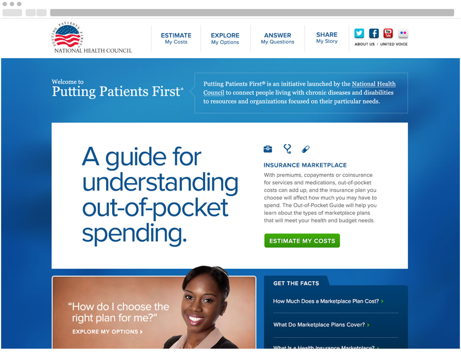 Putting Patients First - Homepage